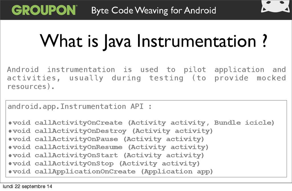 What is Java Instrumentation ? Byte Code Weavin...