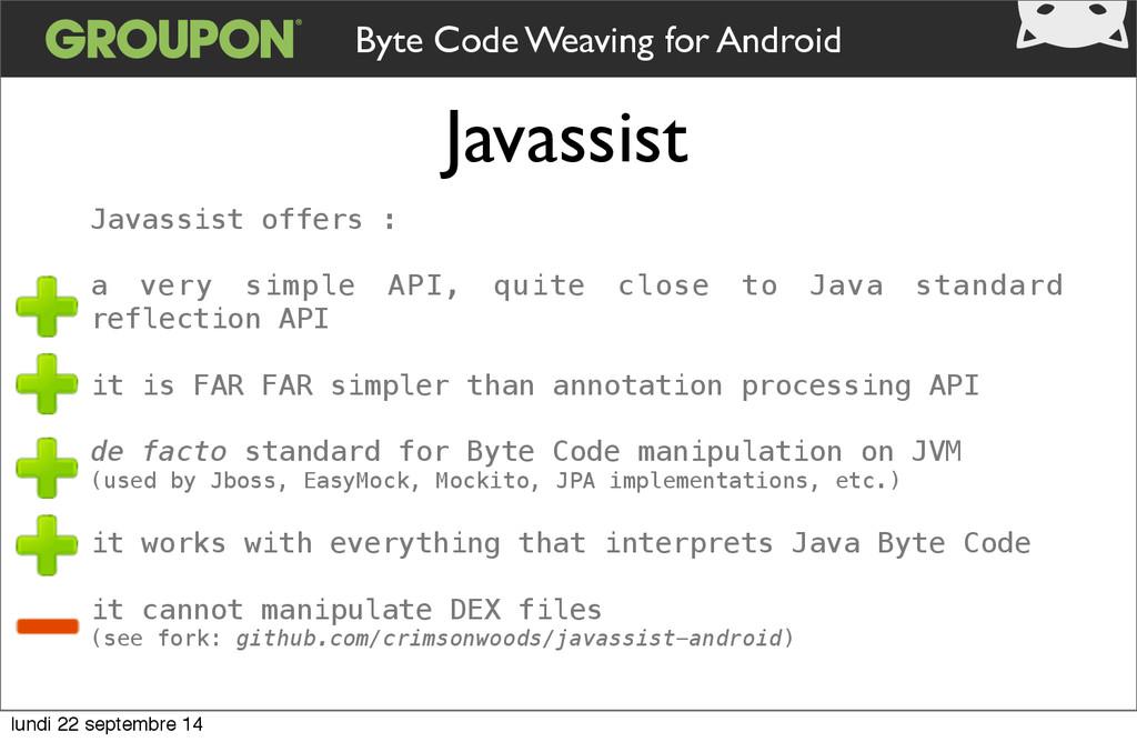 Javassist Byte Code Weaving for Android Javassi...