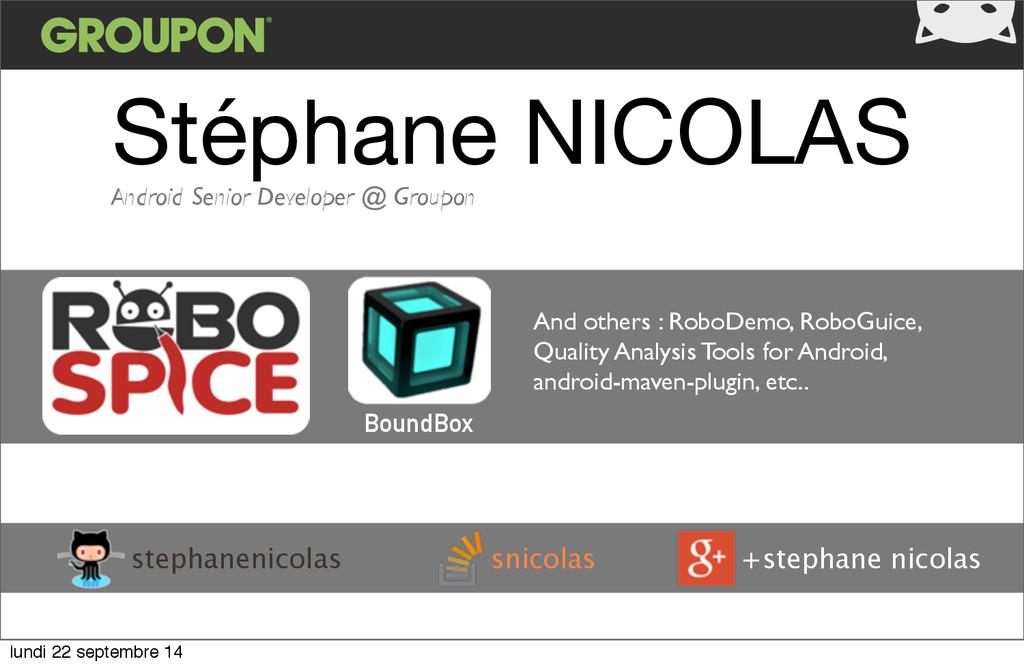 Stéphane NICOLAS snicolas stephanenicolas +step...