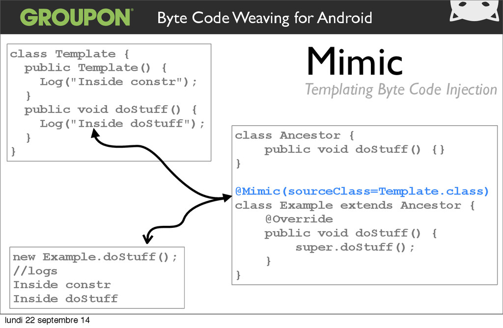 Mimic Templating Byte Code Injection class Temp...