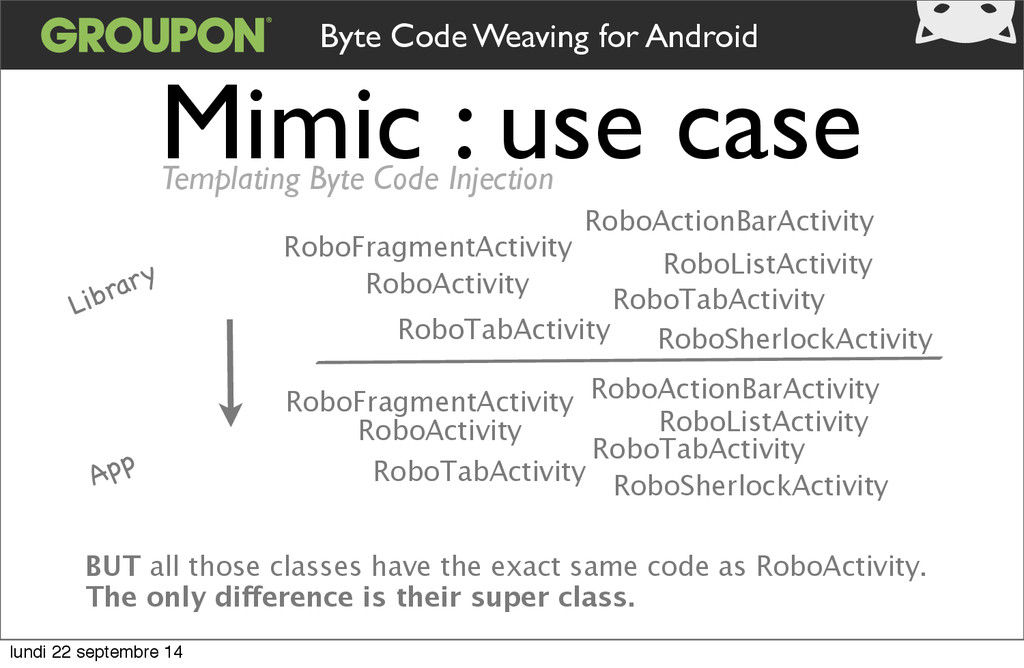 Mimic : use case Library App BUT all those clas...