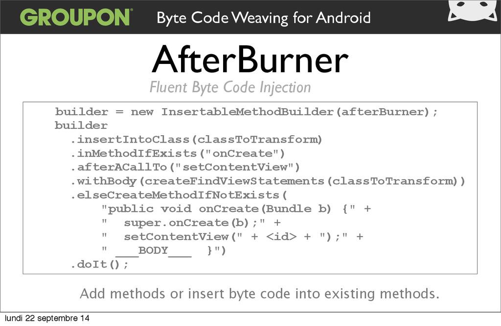 AfterBurner Fluent Byte Code Injection builder ...