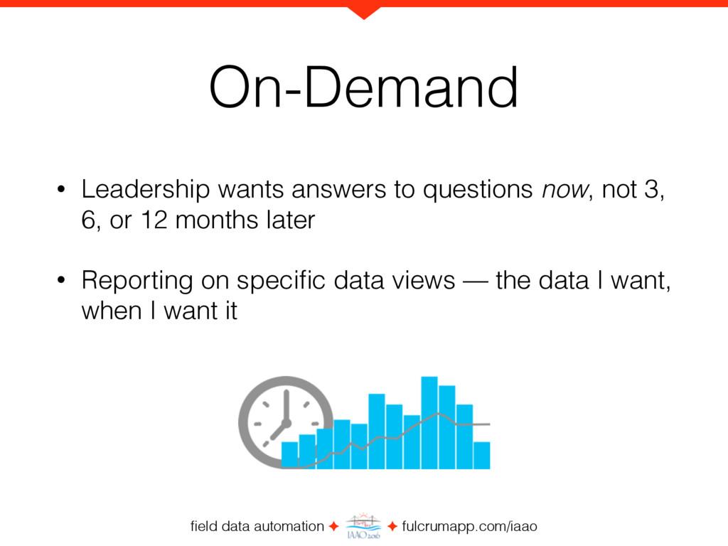 field data automation ✦ ✦ fulcrumapp.com/iaao On...