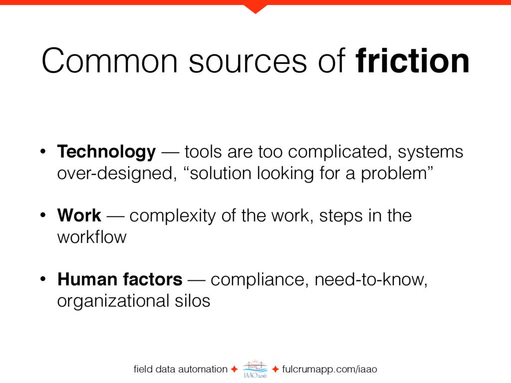 field data automation ✦ ✦ fulcrumapp.com/iaao Co...