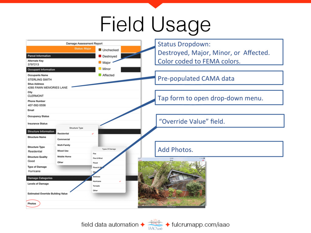 field data automation ✦ ✦ fulcrumapp.com/iaao St...