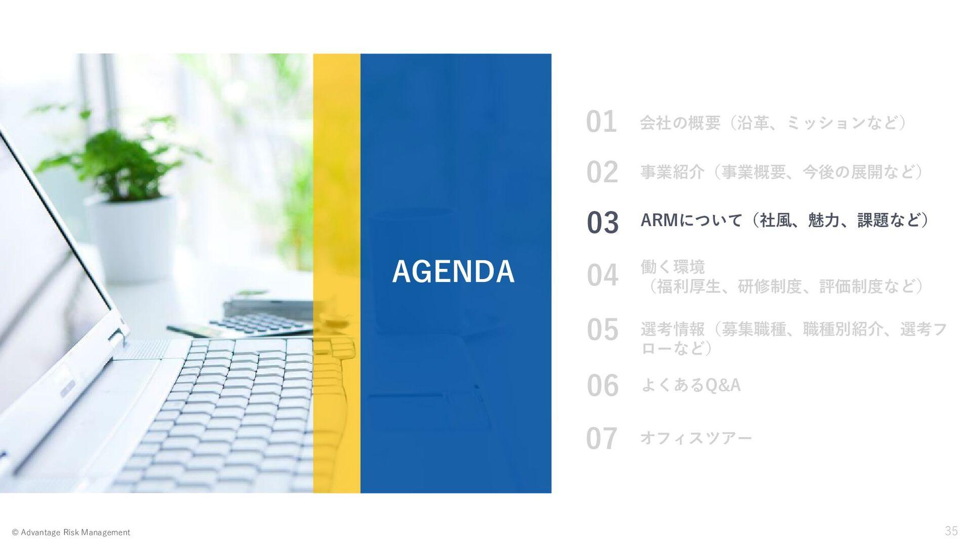 Page 35 2020 Advantage Risk Management © 選考フロー(...