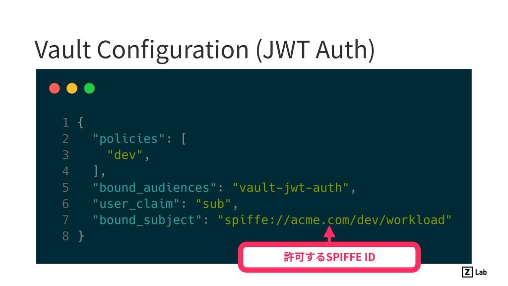 Vault Configuration (JWT Auth) 許可するSPIFFE ID