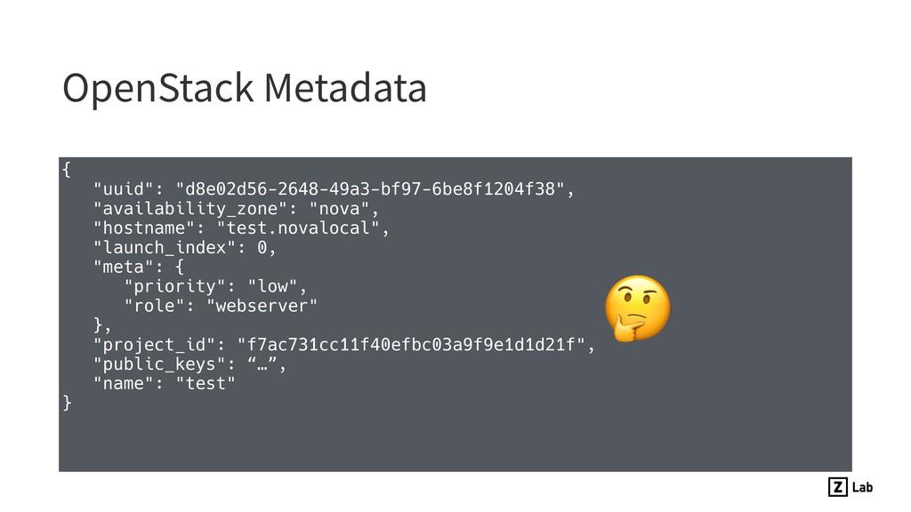 """OpenStack Metadata { """"uuid"""": """"d8e02d56-2648-49a..."""