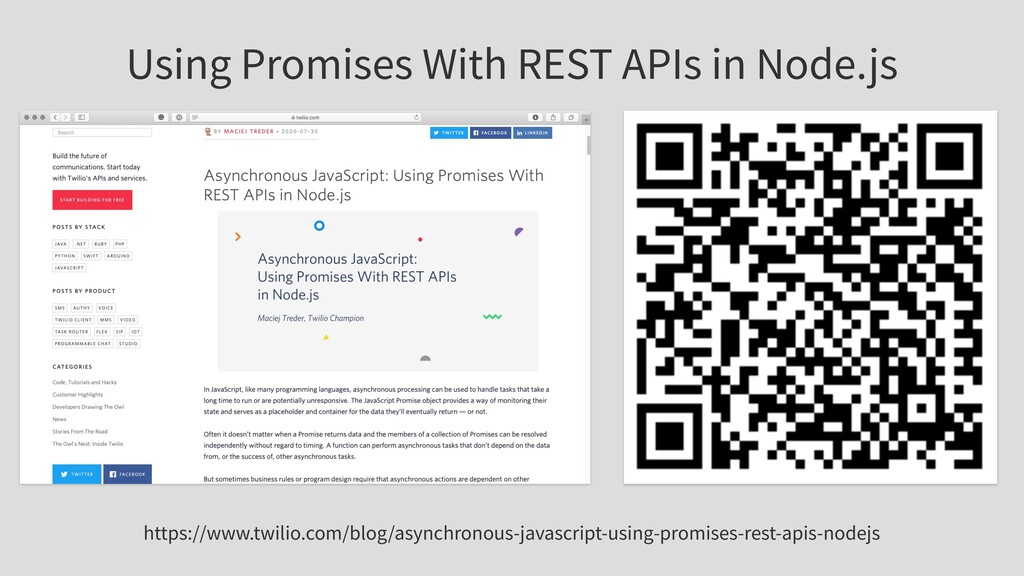 Using Promises With REST APIs in Node.js https:...