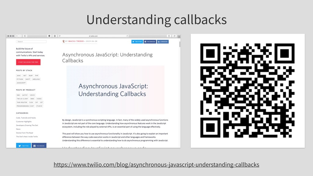 Understanding callbacks https://www.twilio.com/...