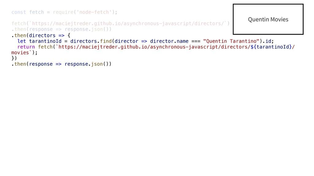 const fetch = require('node-fetch'); fetch(`htt...