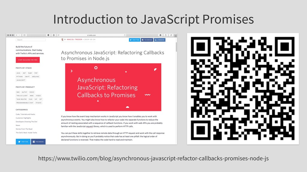Introduction to JavaScript Promises https://www...