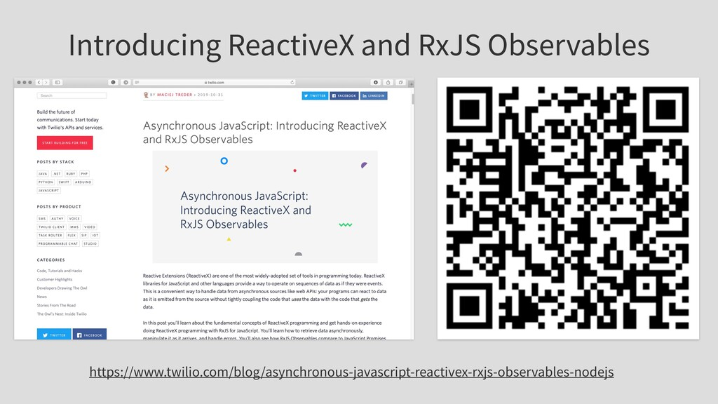 Introducing ReactiveX and RxJS Observables http...