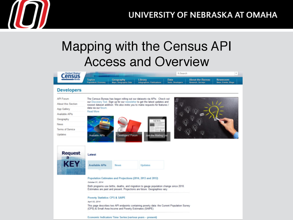 Mapping with the Census API Access and Overview
