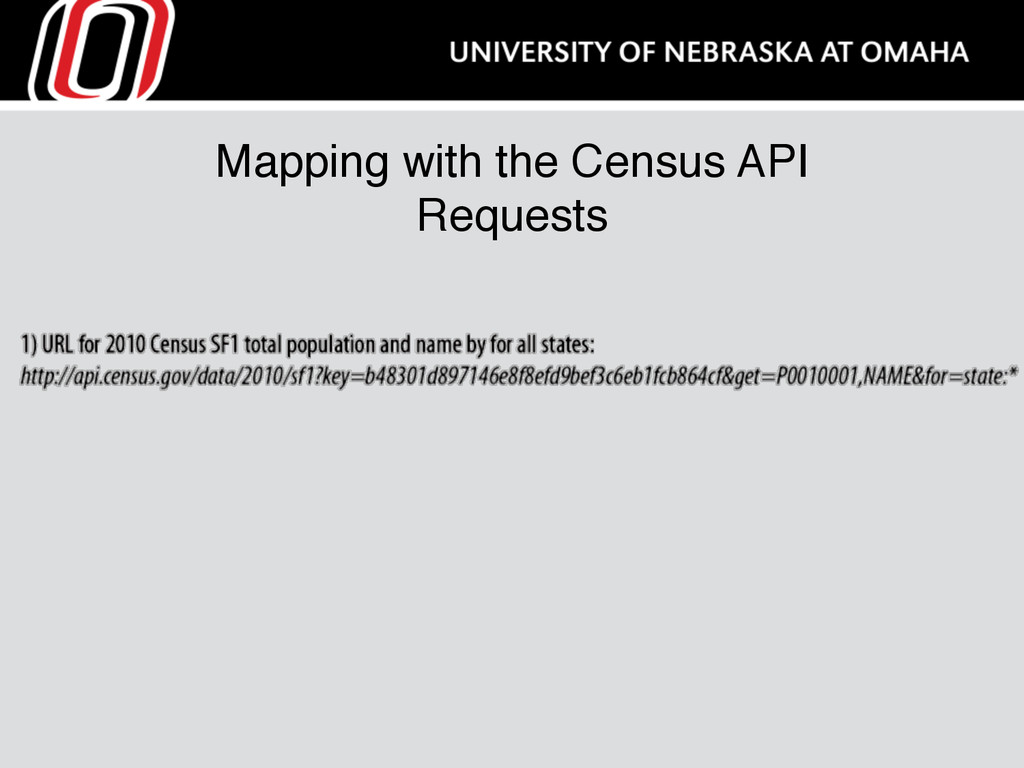 Mapping with the Census API Requests