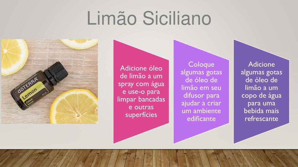 Limão Siciliano Adicione óleo de limão a um spr...