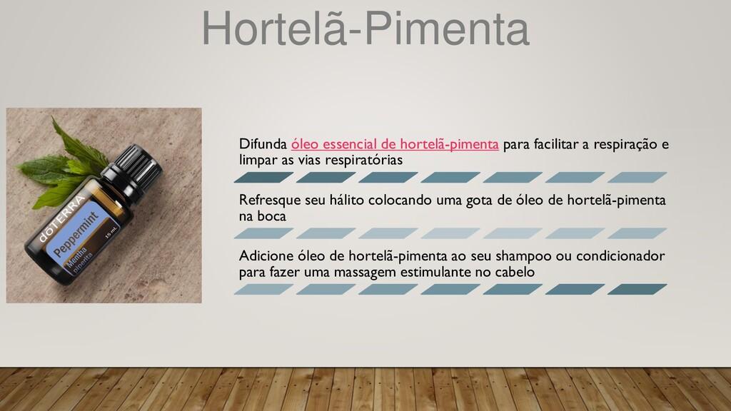 Hortelã-Pimenta Difunda óleo essencial de horte...