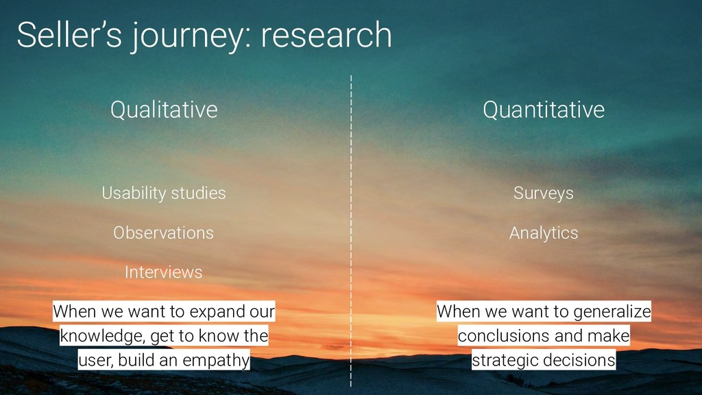 Seller's journey: research Qualitative Usabilit...