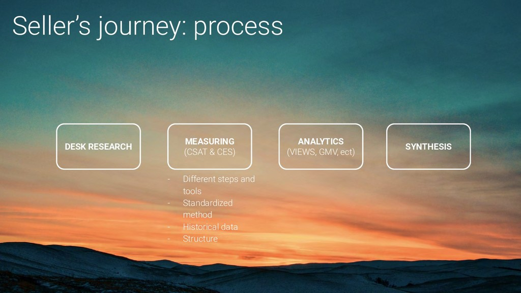 Seller's journey: process MEASURING (CSAT & CES...