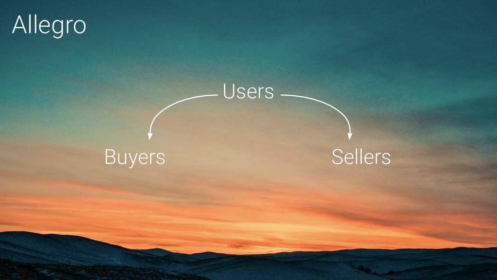 Buyers Sellers Users Allegro