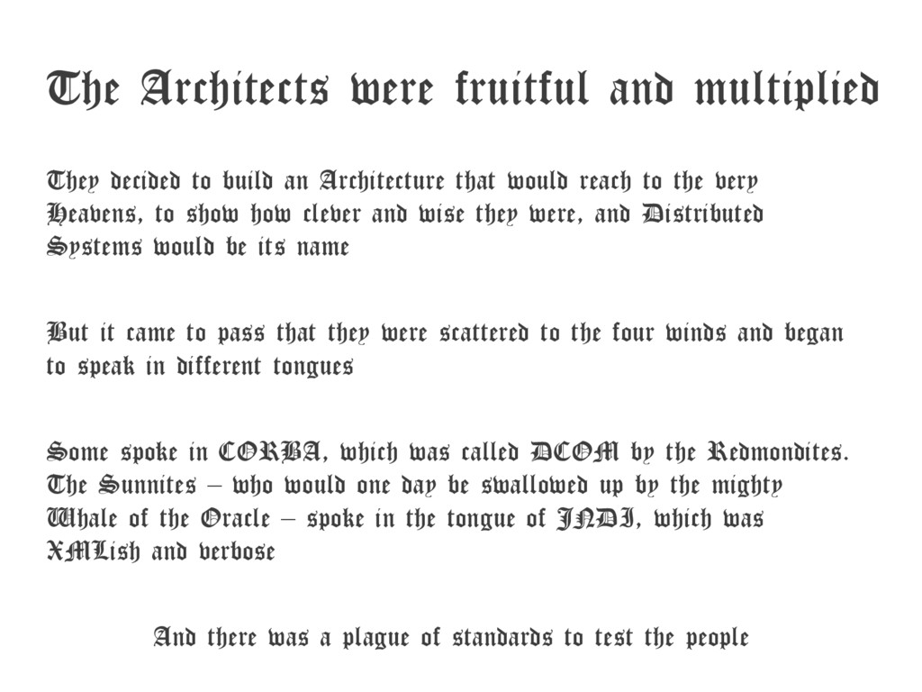 The Architects were fruitful and multiplied The...