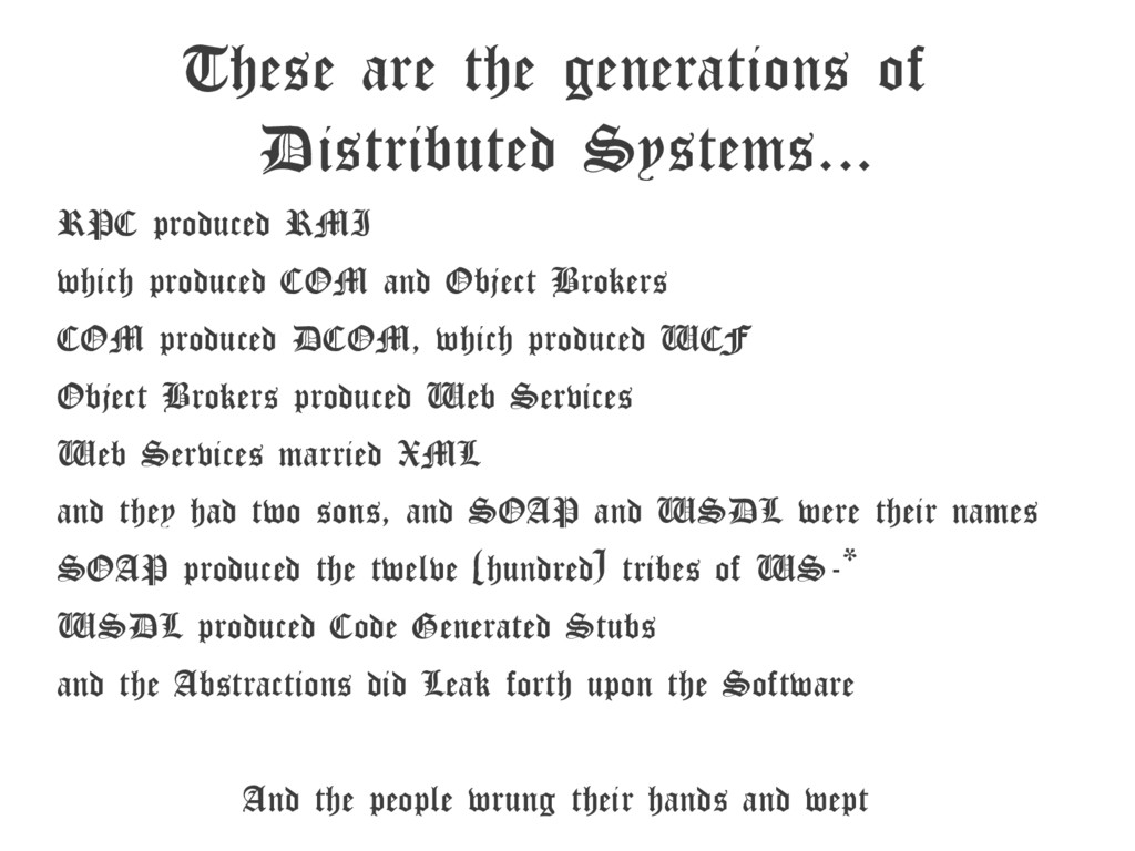 These are the generations of Distributed System...