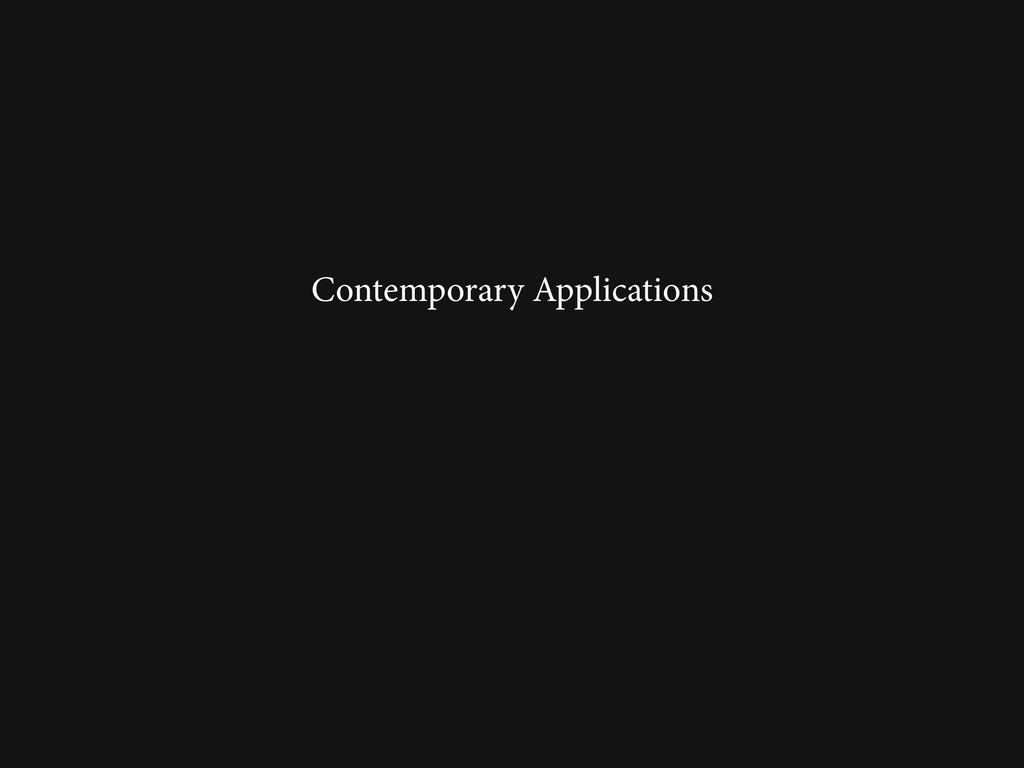 Contemporary Applications