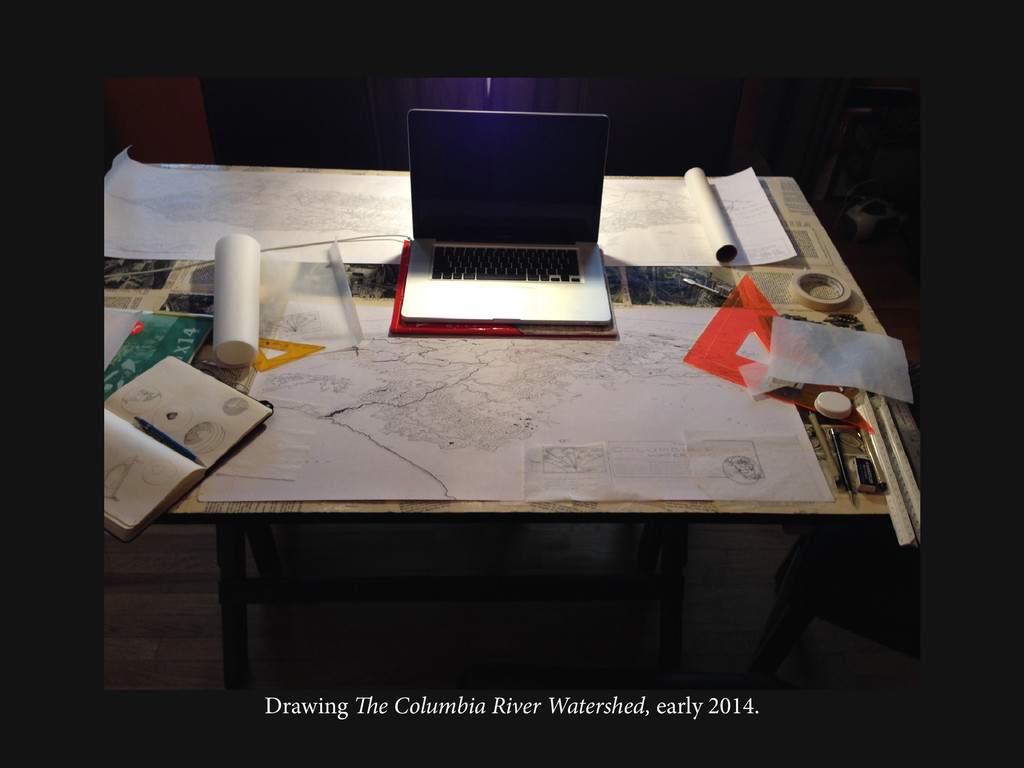 Drawing The Columbia River Watershed, early 201...