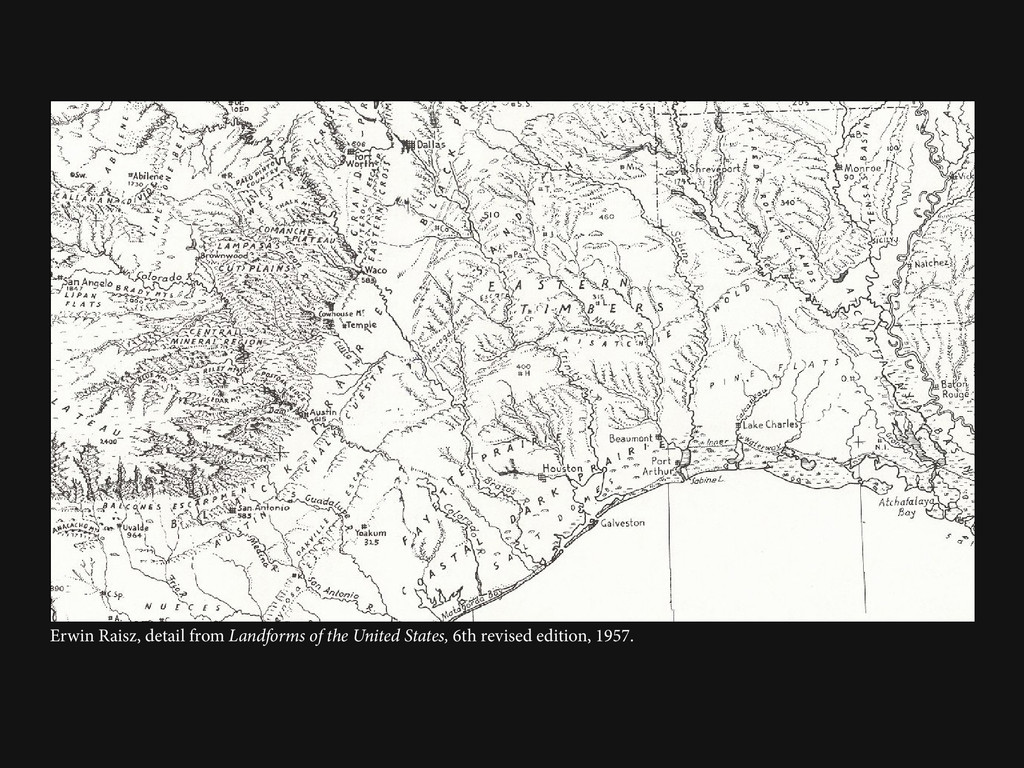 Erwin Raisz, detail from Landforms of the Unite...