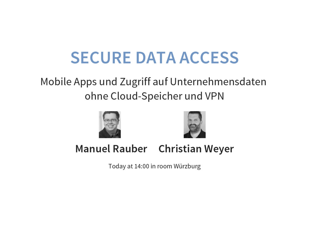 SECURE DATA ACCESS Mobile Apps und Zugriff auf ...