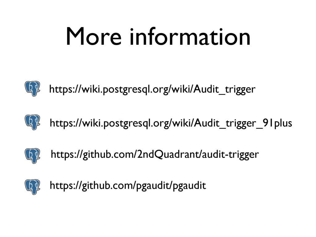 More information https://wiki.postgresql.org/wi...