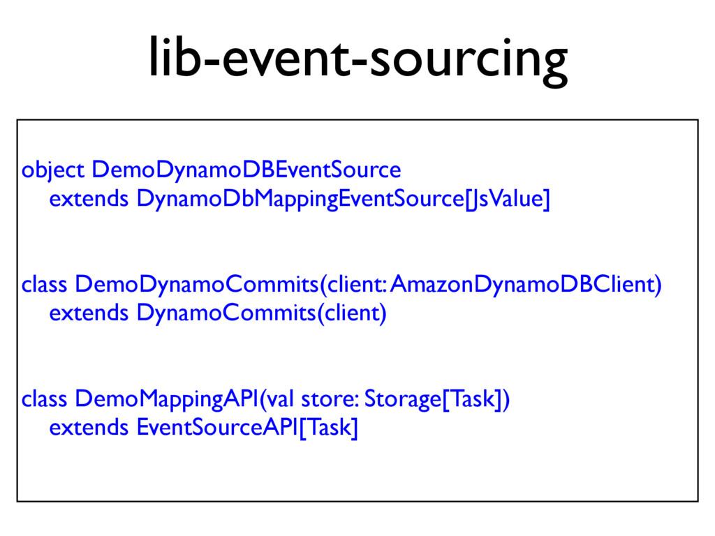 object DemoDynamoDBEventSource extends DynamoDb...