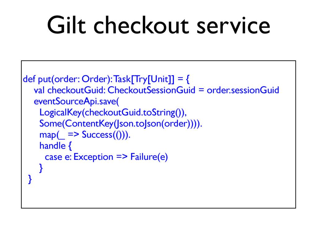 def put(order: Order): Task[Try[Unit]] = { val ...