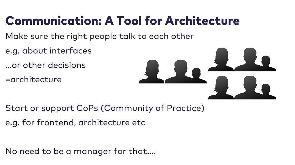 Communication: A Tool for Architecture Make sur...