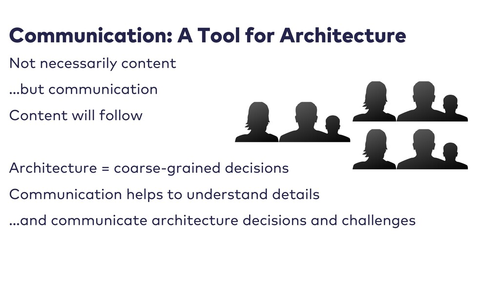 Communication: A Tool for Architecture Not nece...