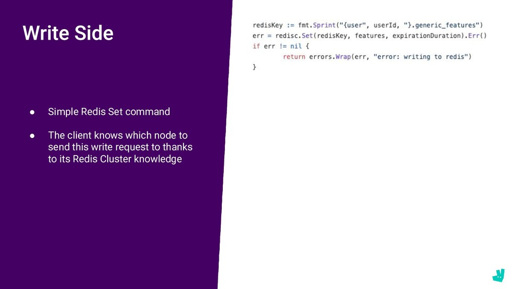 ● Simple Redis Set command ● The client knows w...
