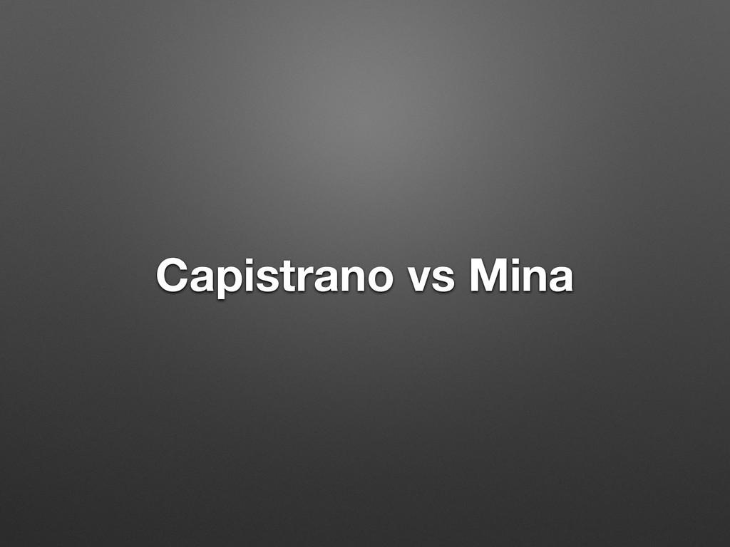 Capistrano vs Mina