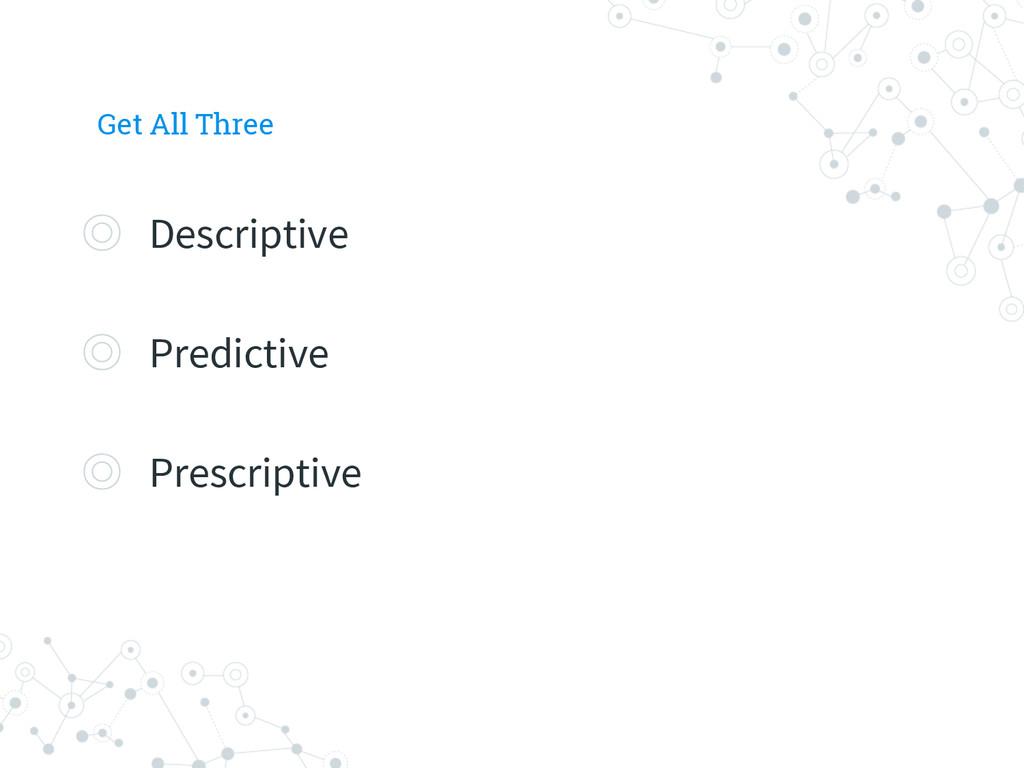 Get All Three ◎ Descriptive ◎ Predictive ◎ Pres...
