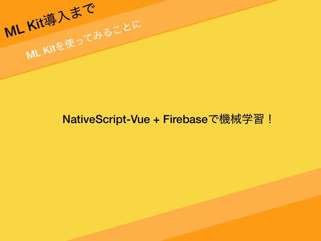 ML KitΛͬͯΈΔ͜ͱʹ ML Kitಋೖ·Ͱ NativeScript-Vue + F...
