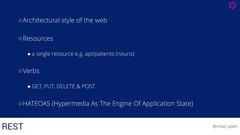 ○Architectural style of the web ○Resources ! a ...
