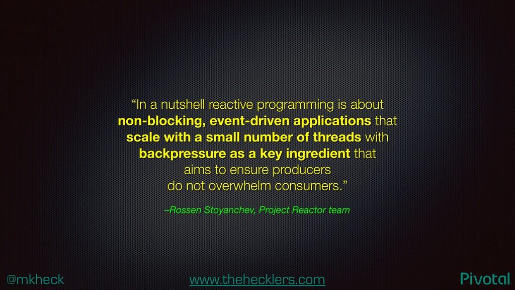 @mkheck www.thehecklers.com –Rossen Stoyanchev,...