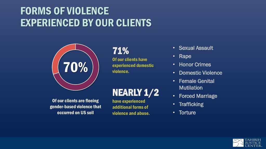 FORMS OF VIOLENCE EXPERIENCED BY OUR CLIENTS 71...
