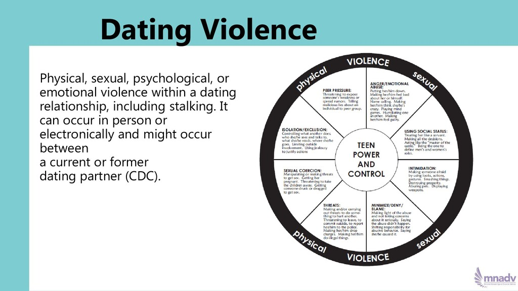 Dating Violence Physical, sexual, psychological...