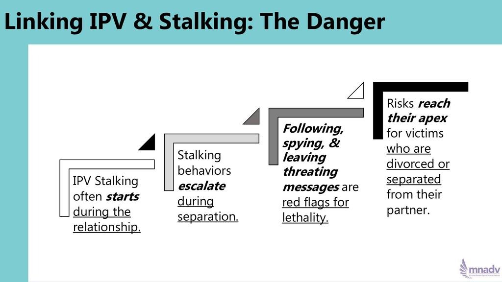 Linking IPV & Stalking: The Danger IPV Stalking...