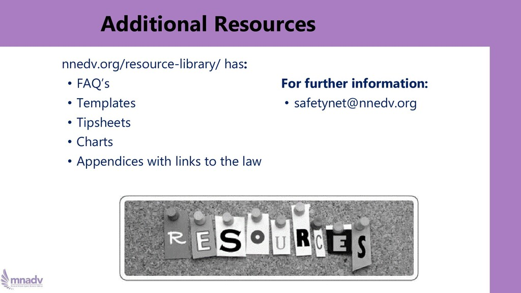 Additional Resources nnedv.org/resource-library...