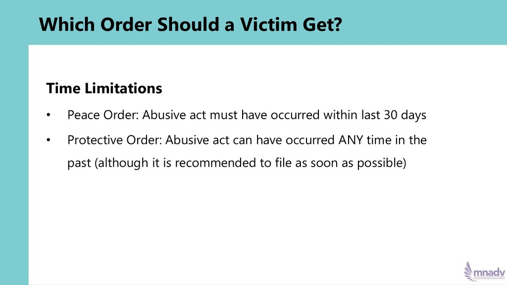 Which Order Should a Victim Get? Time Limitatio...