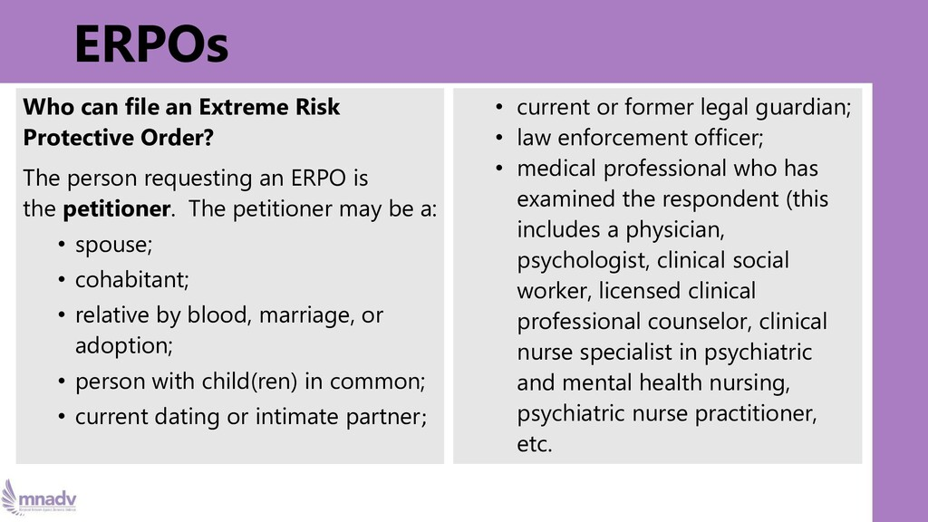 ERPOs Who can file an Extreme Risk Protective O...