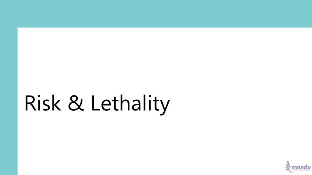 Risk & Lethality