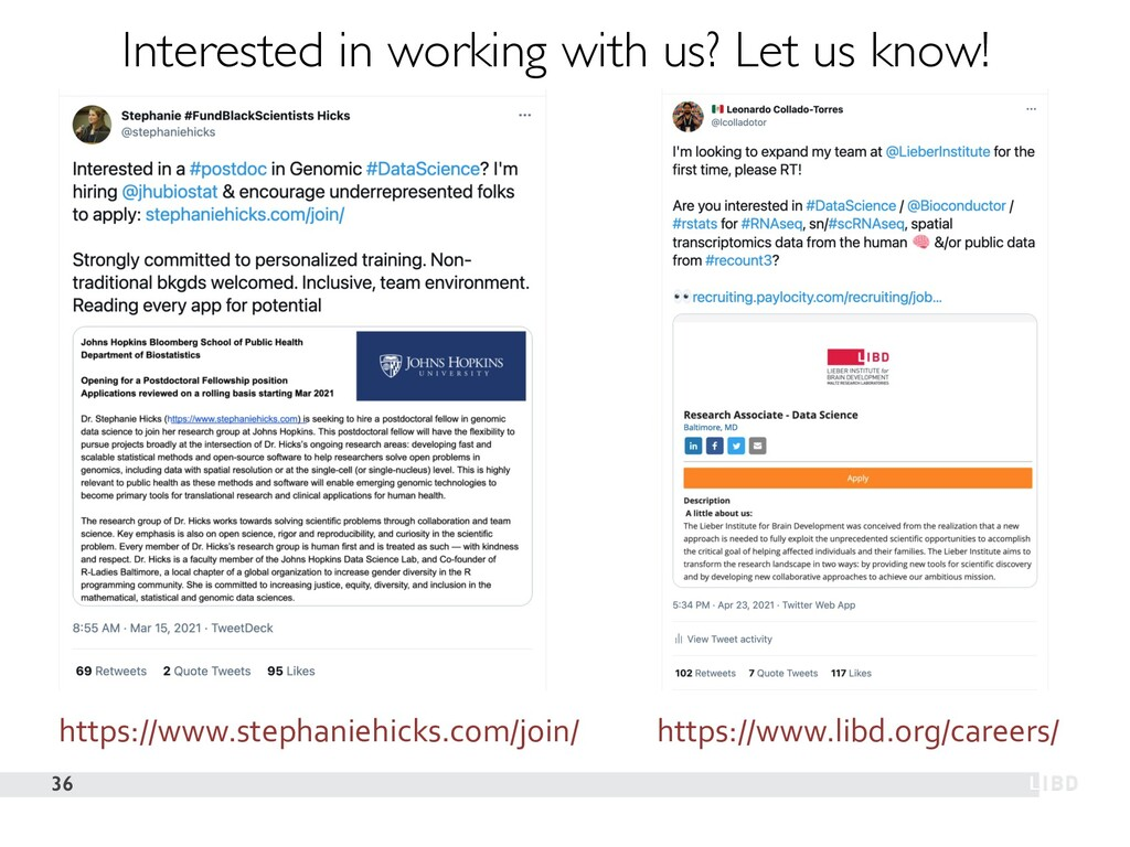 36 Interested in working with us? Let us know! ...