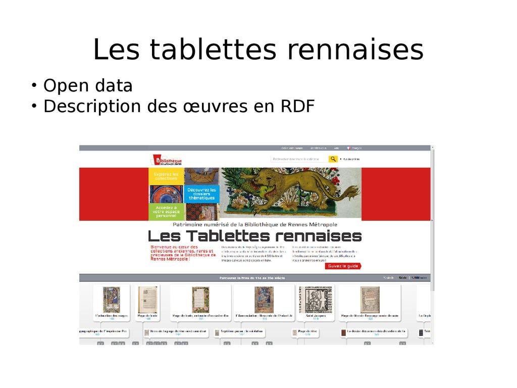 Les tablettes rennaises • Open data • Descripti...
